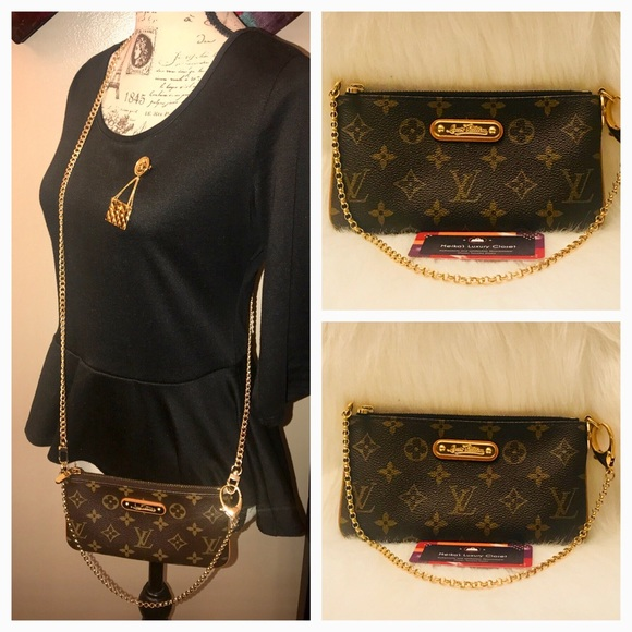 f2824503a Louis Vuitton Handbags - Authentic Milla MM clutch with crossbody chain